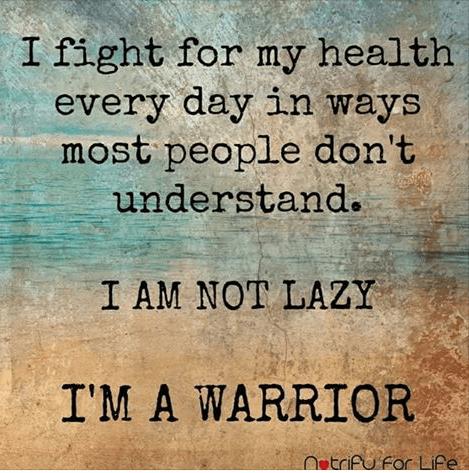 citat hälsa. Jag är inte lat, jag är en krigare.